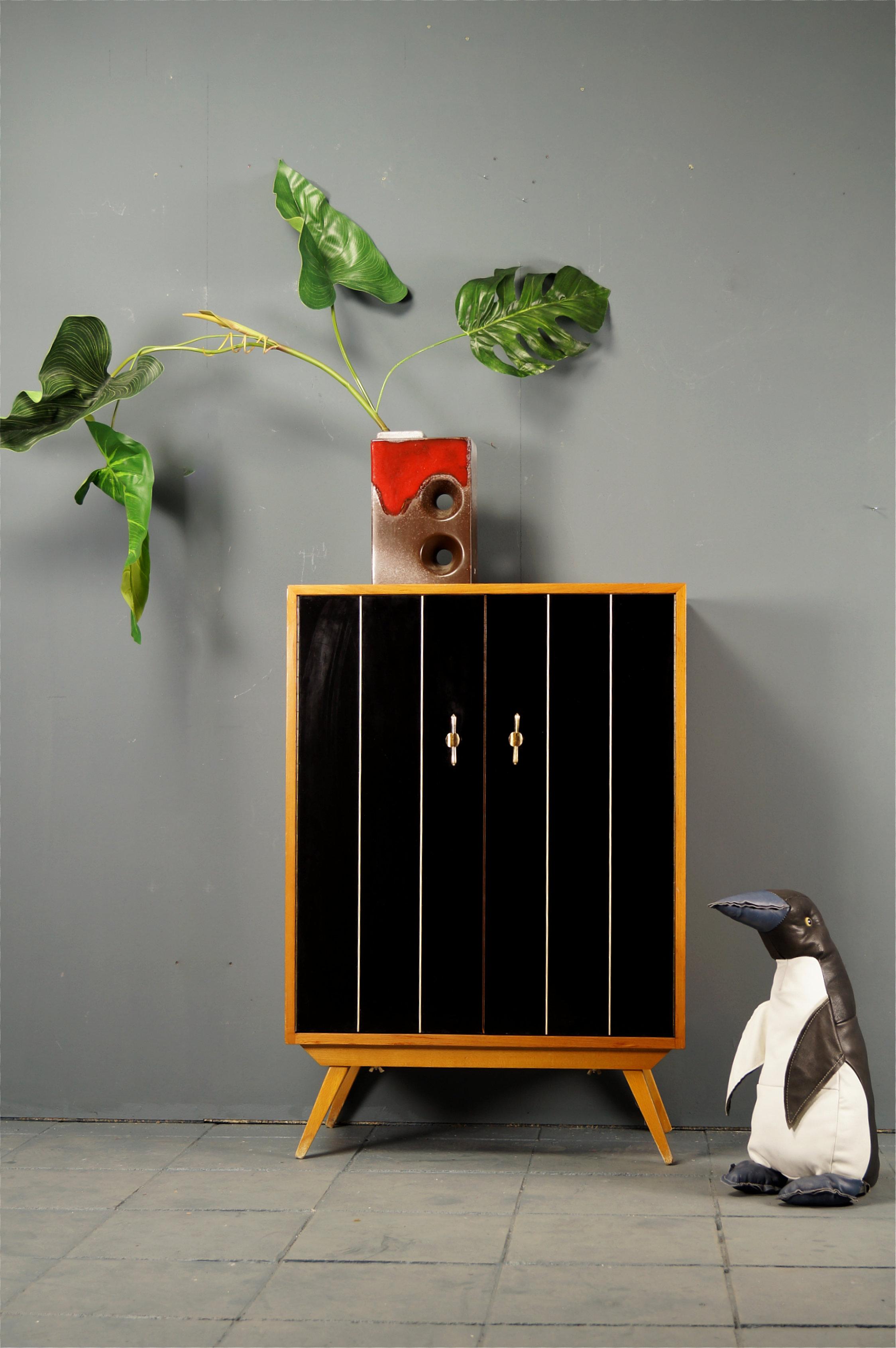 flex mid century vintage design n rnberg eleganter 50s schuhschrank kommode. Black Bedroom Furniture Sets. Home Design Ideas