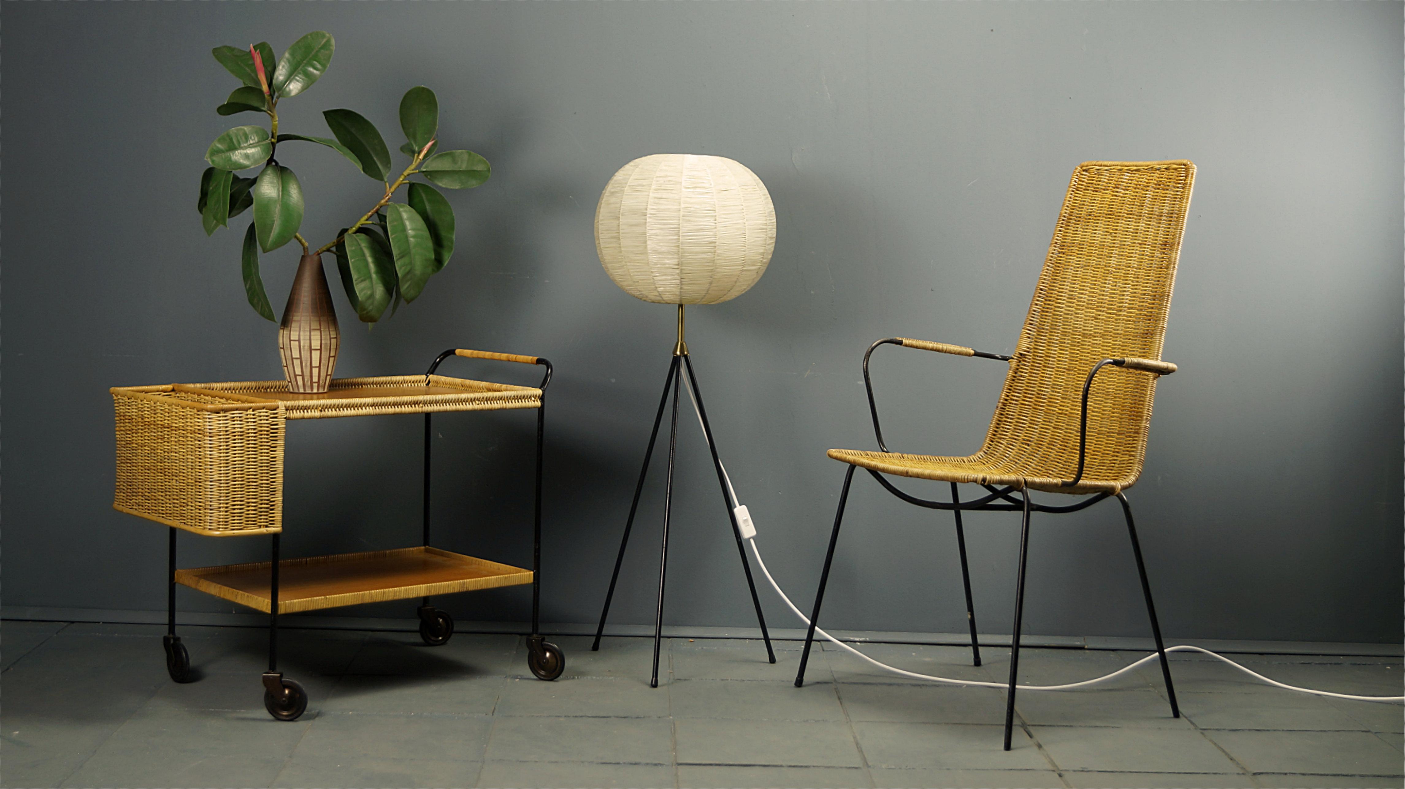 flex mid century vintage design n rnberg 50s rattan. Black Bedroom Furniture Sets. Home Design Ideas
