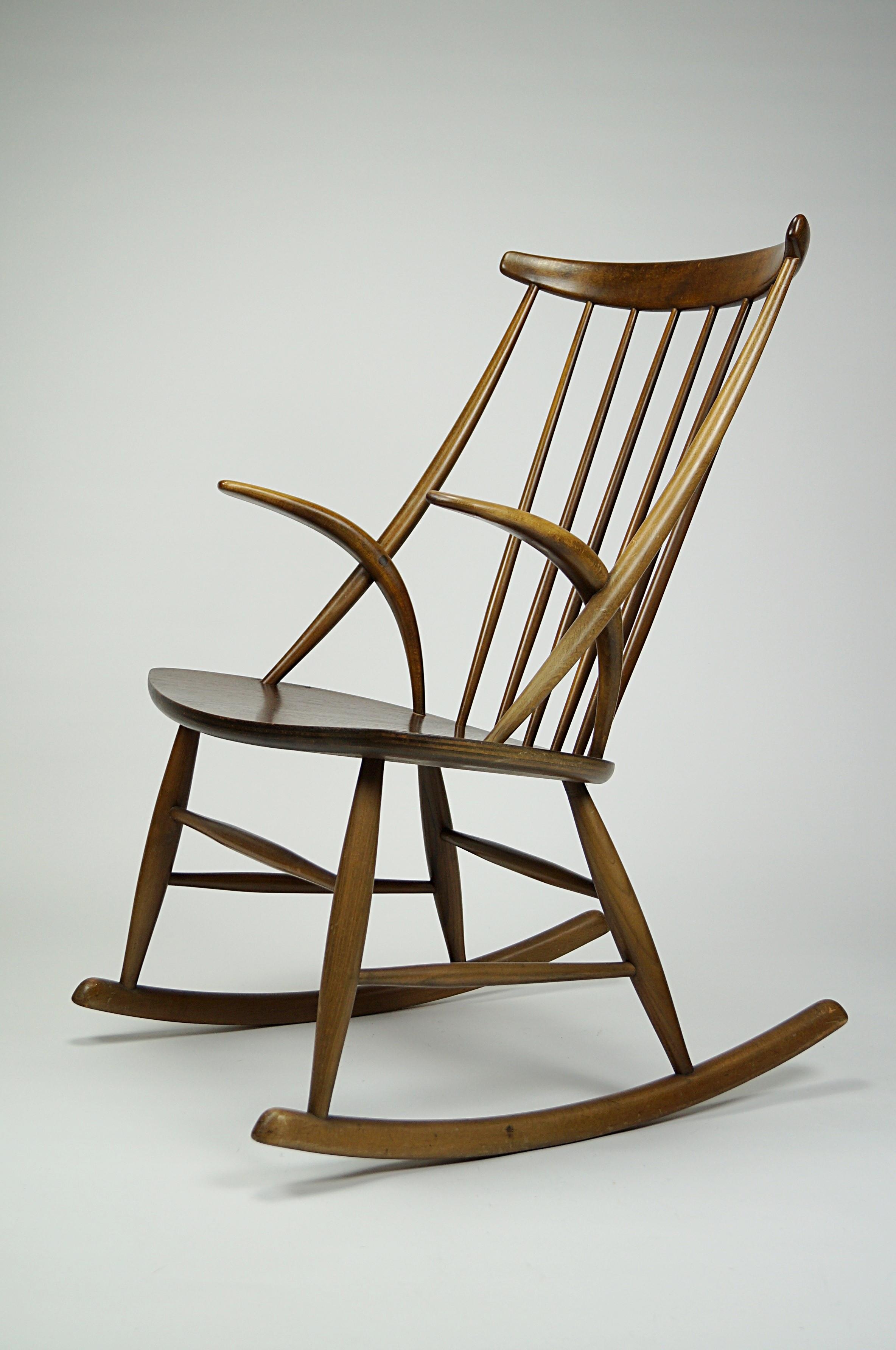flex mid century vintage design n rnberg mid century schaukelstuhl design illum wikkels f r. Black Bedroom Furniture Sets. Home Design Ideas