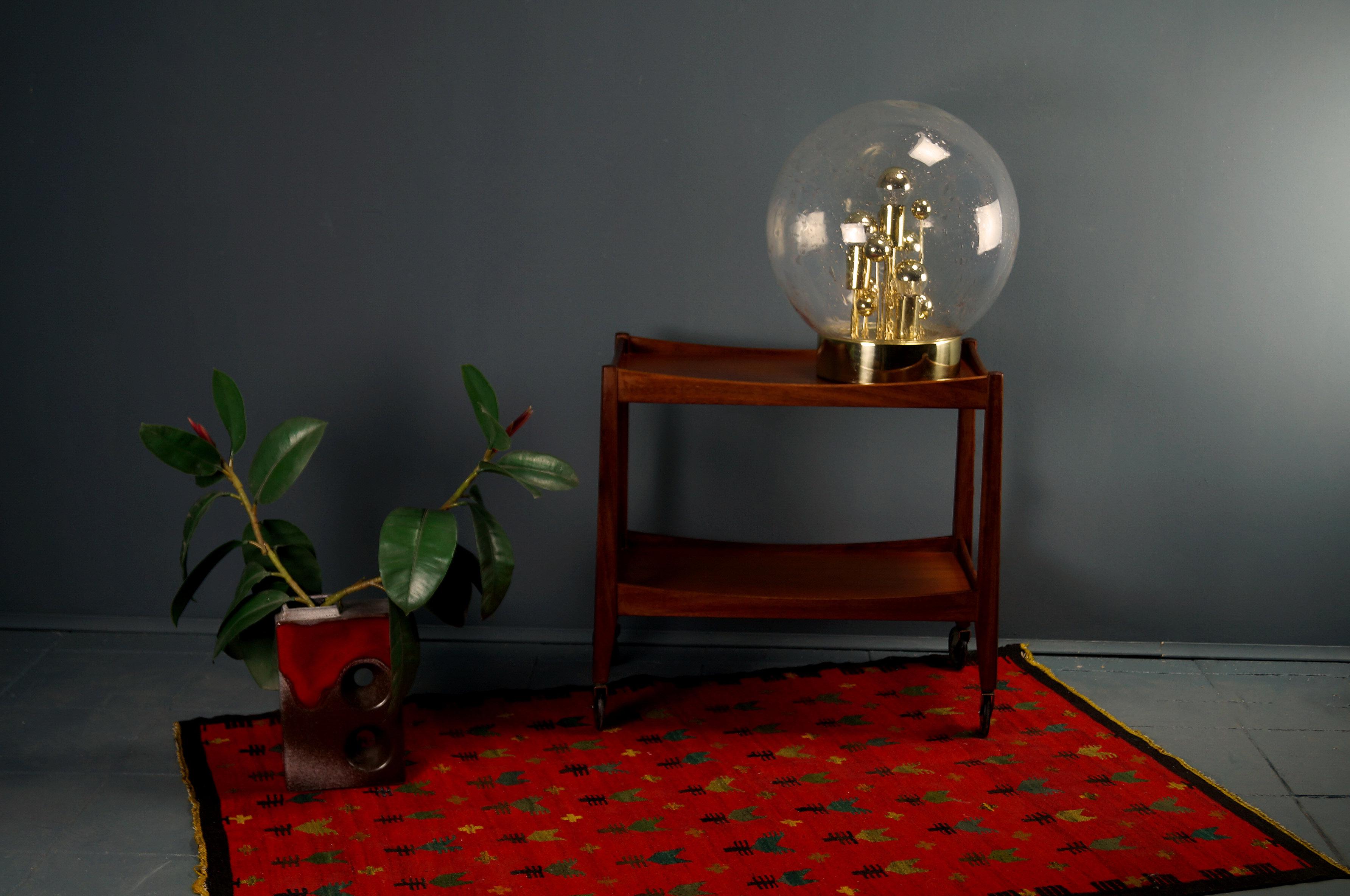 flex mid century vintage design n rnberg opal servierwagen sputnik tischleuchte von doria. Black Bedroom Furniture Sets. Home Design Ideas