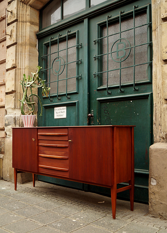 Flex Mid Century Vintage Design Nurnberg 60er Teak Sideboard