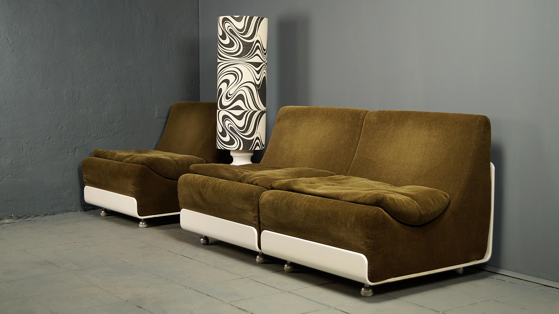 Flex Mid Century Vintage Design Nürnberg 3er Set Modularsofa