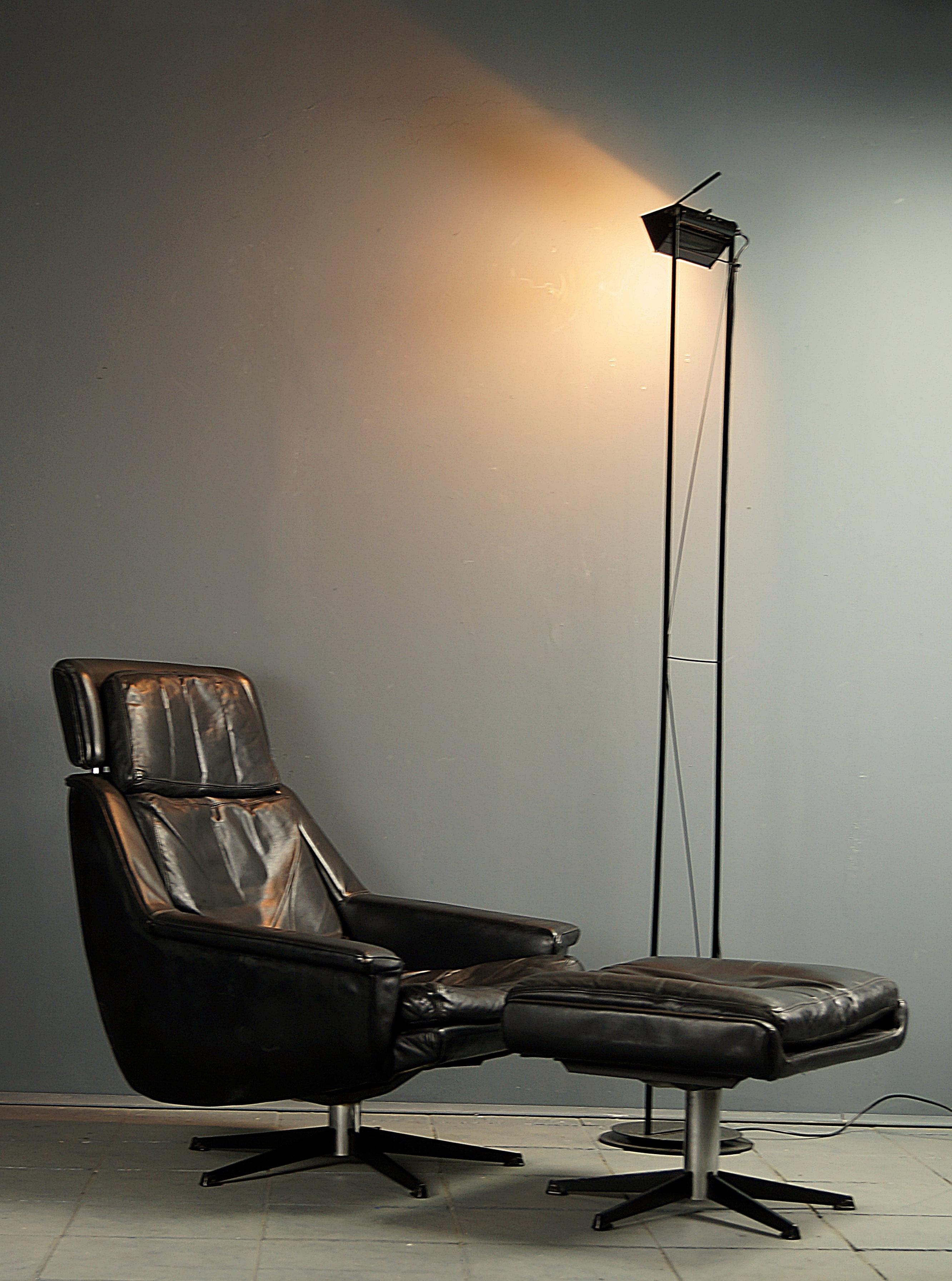 Flex Mid Century Vintage Design Nürnberg 70s Leder Lounge Sessel