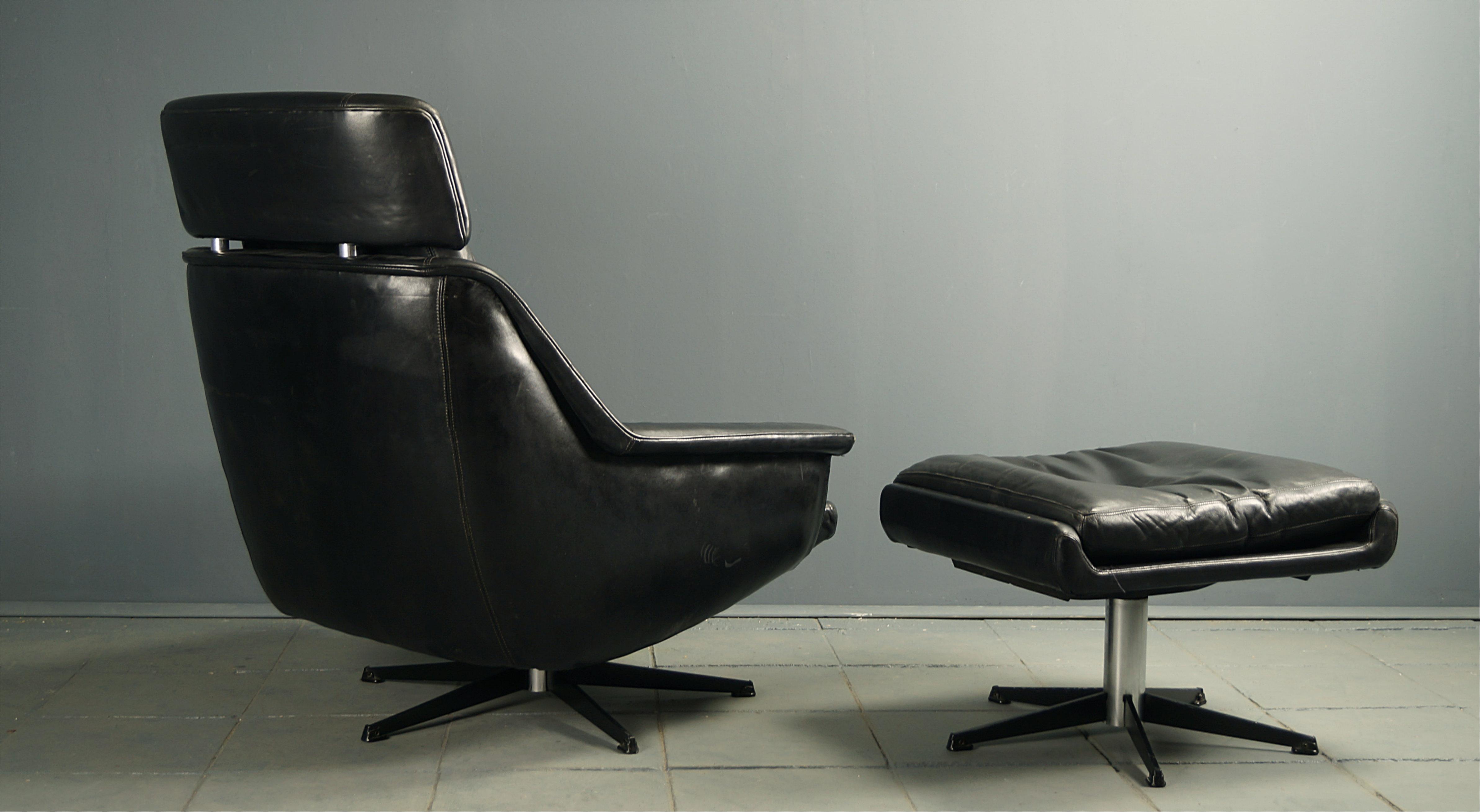 Flex! mid century vintage design nürnberg » 70s leder lounge sessel