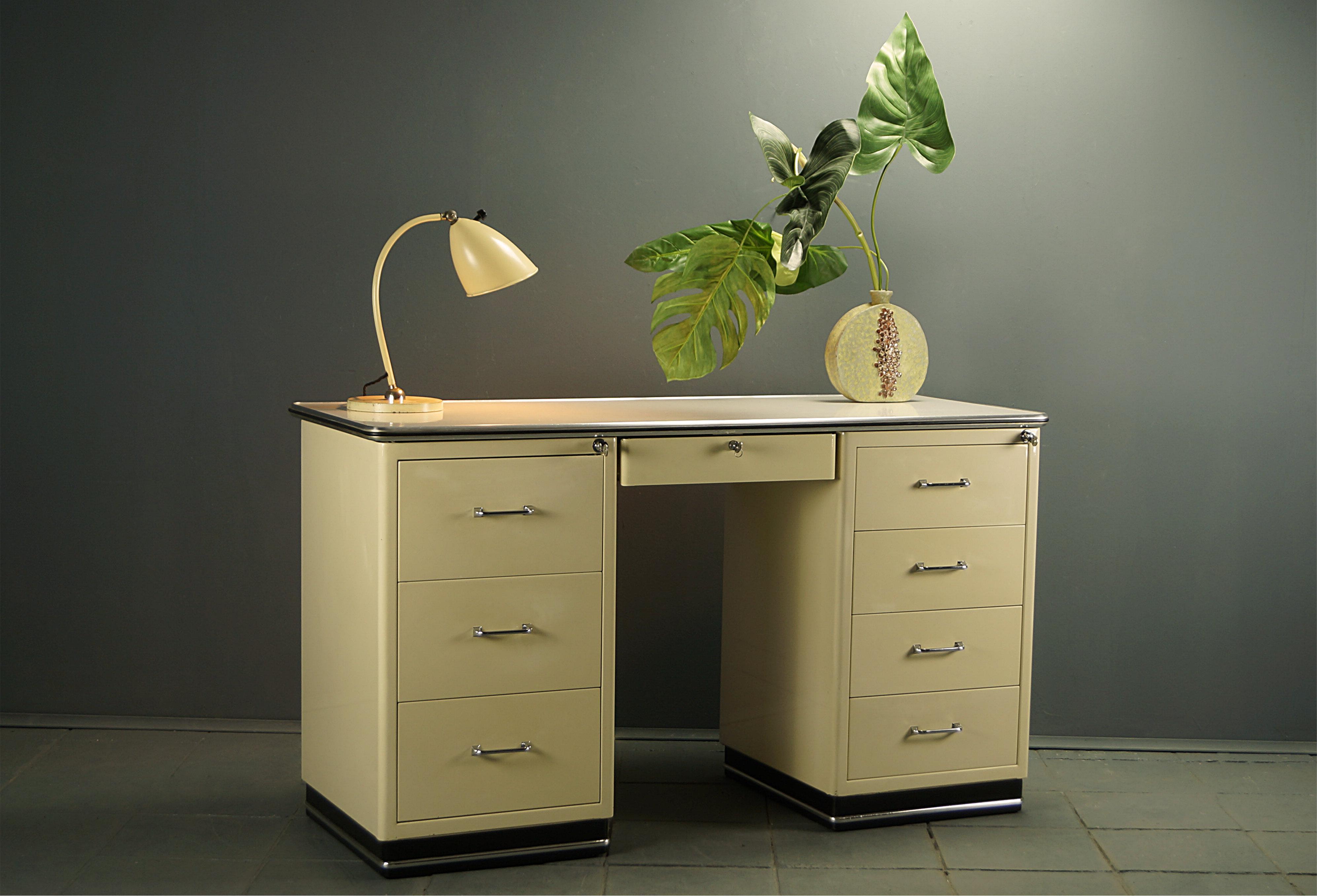 flex! mid century vintage design nürnberg » 50s arztschreibtisch ...