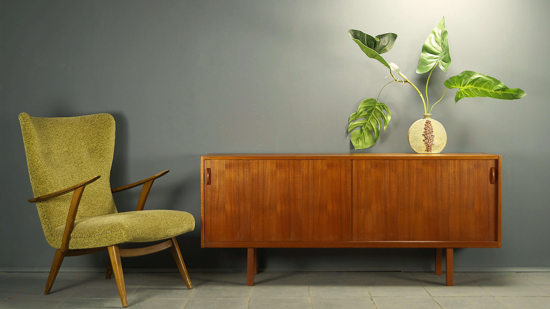 Flex Mid Century Vintage Design Nurnberg Schlichtes Teak