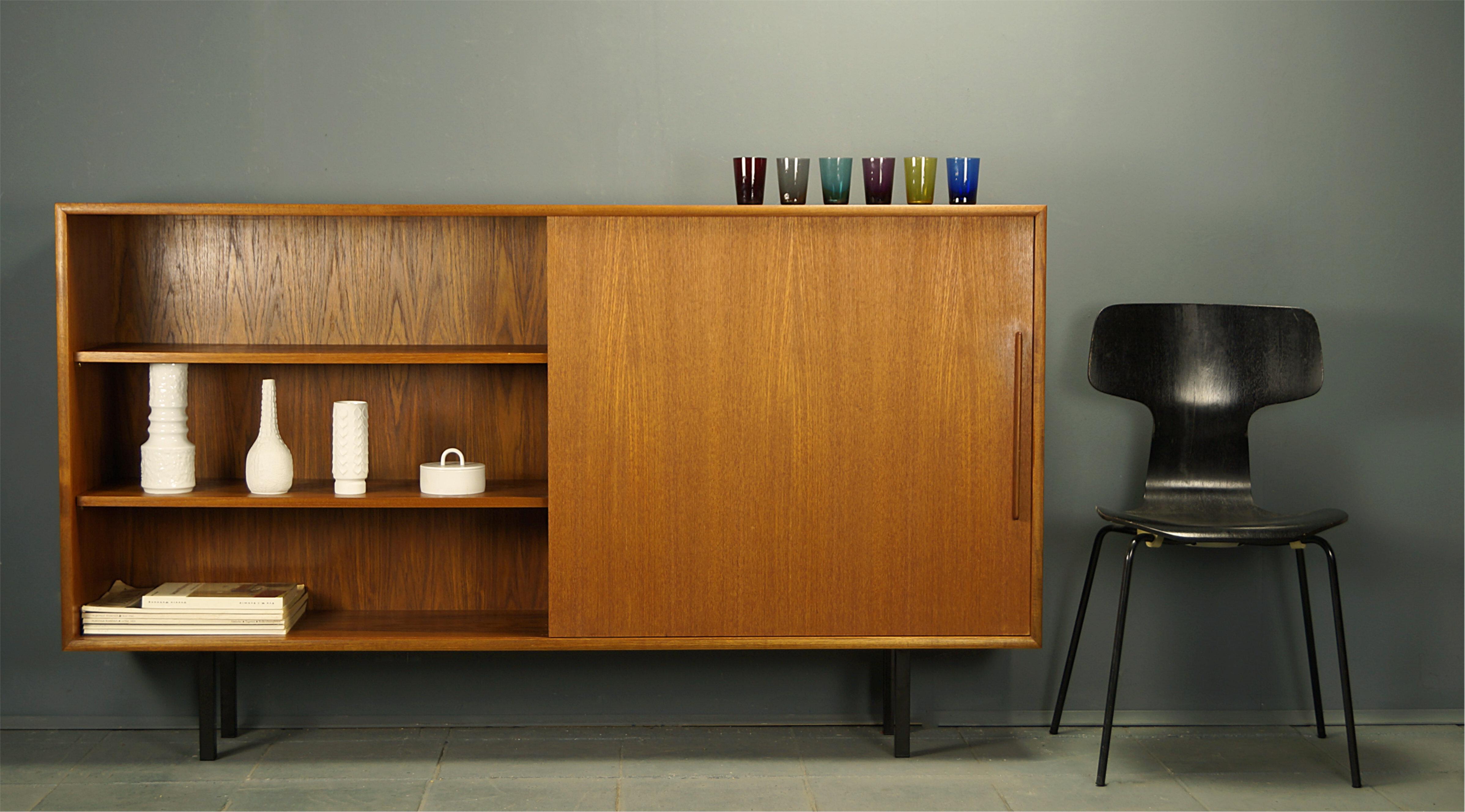 Flex Mid Century Vintage Design Nurnberg Geradlinige Teak Kommode