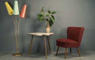 Flex mid century vintage design nürnberg sessel
