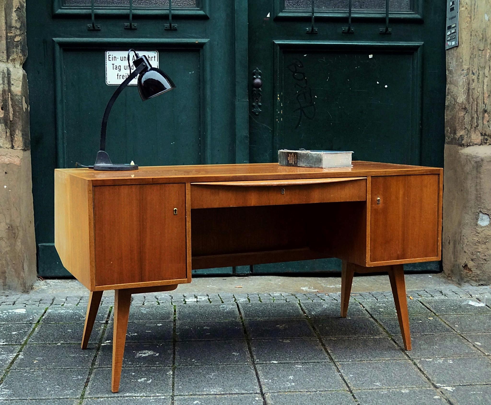 Schreibtisch vintage  flex! mid century vintage design nürnberg » schreibtisch, zugeschr ...