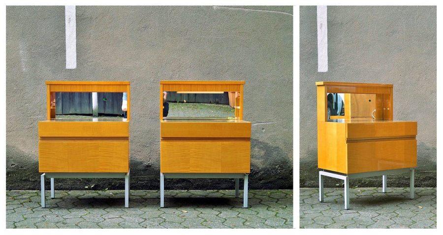 flex mid century vintage design n rnberg 2 mid century nachtk stchen. Black Bedroom Furniture Sets. Home Design Ideas