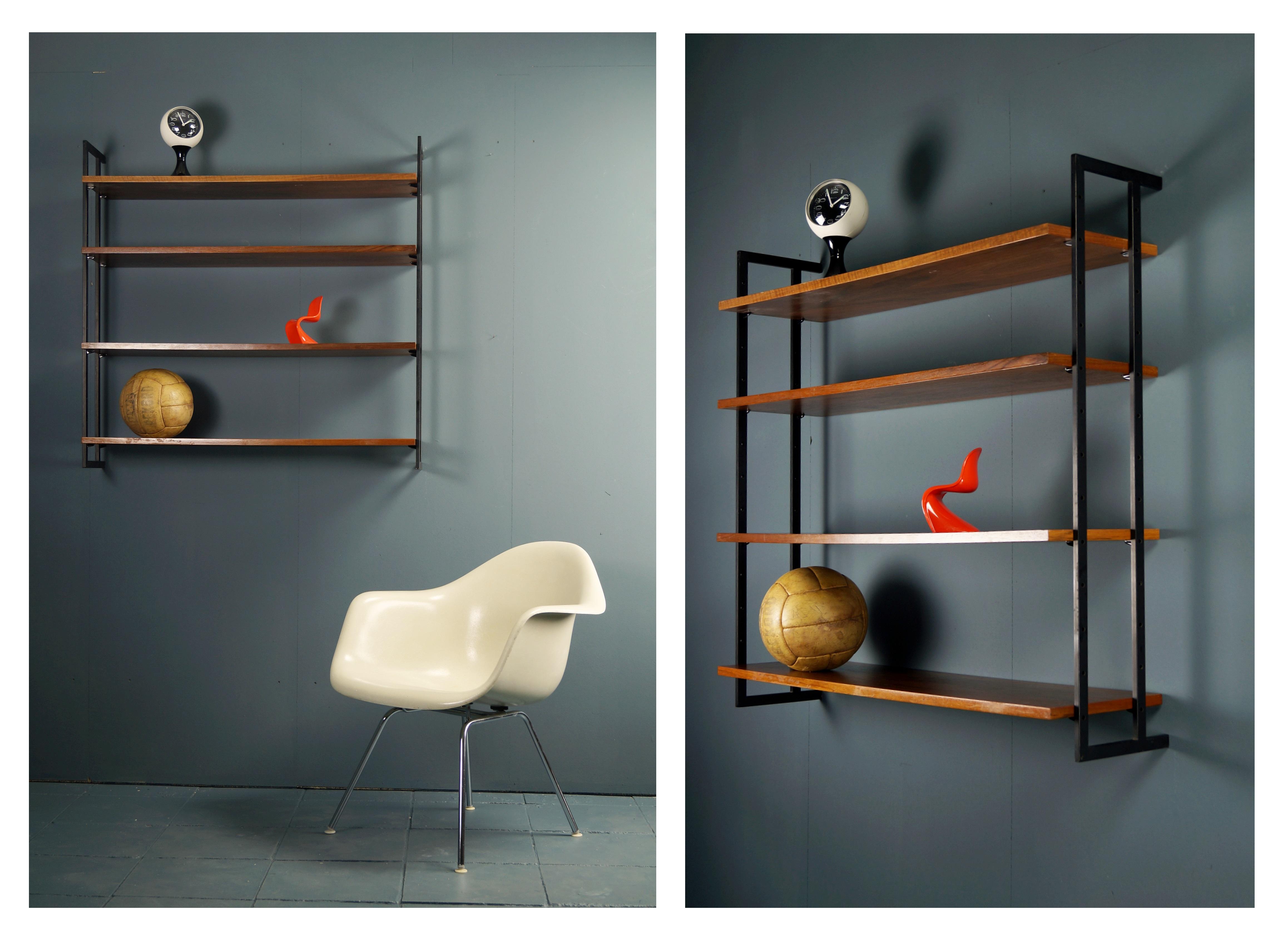 flex mid century vintage design n rnberg mid century wandregal string ra. Black Bedroom Furniture Sets. Home Design Ideas