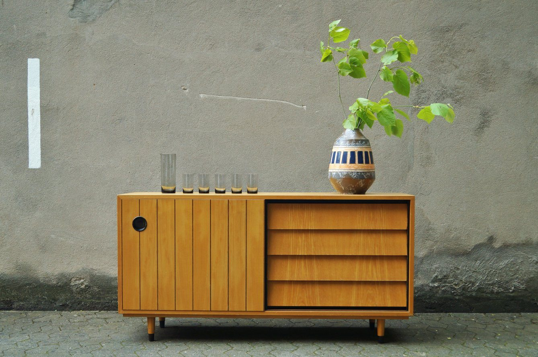 flex mid century vintage design n rnberg mid century sideboard by erich stratmann. Black Bedroom Furniture Sets. Home Design Ideas